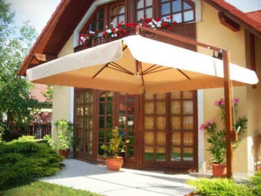 zsiráf napernyő családi ház
