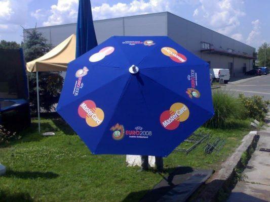 kék holiday napernyő